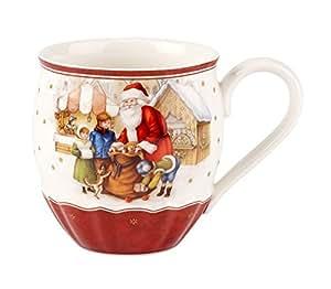 villeroy boch toy 39 s fantasy grande tasse avec cadeaux de p re no l porcelaine rouge 14 x 11. Black Bedroom Furniture Sets. Home Design Ideas