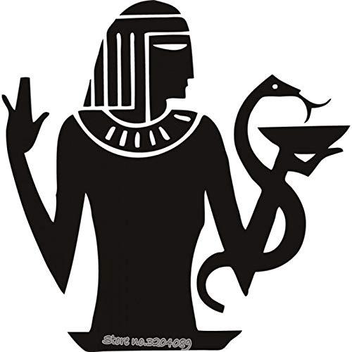 zhuziji Alte Ägypten Pharao Wandaufkleber Pharao Schlange Gott Glauben Wandtattoo Vinyl Kunst Vintage Wohnzimmer Wandmalereien Home Deco rot 42x42 cm -