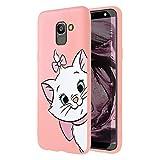 ZhuoFan Coque Samsung Galaxy J6 Plus, Etui en Liquide Silicone 3D Rose avec Motif Dessin Antichoc Housse de Protection Case Cover...