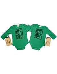 SR - Double Trouble Twin Set Camisillas Bebé - 100% Bio-algodón - en caja de regalo