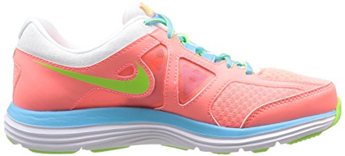 Nike W Dual Fusion Lite 2 Msl - Sneaker pour femme multicolore (LAVA GLOW/FLSH LM-WHITE-CLRWTR)