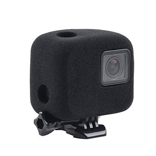 Carcasa de Espuma para Parabrisas para GoPro Hero 7/6/5, Color Negro, Cubierta de reducción de Ruido para grabación de Audio y vídeo al Aire Libre