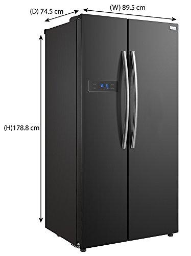 Russell Hobbs American Style Fridge freezer, 90cm wide, Side by Side, A+ efficiency, RH90FF176B- 2 Year Warranty** (Black)