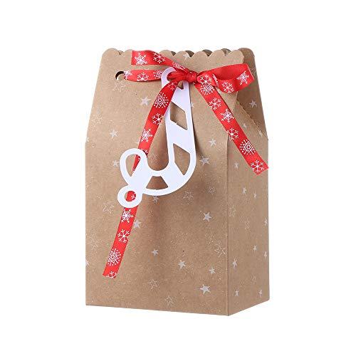 rooteroy Weihnachtskraftpapiertüte, Geschenklieferung des Verpackungsdekorationsaufklebers für die Verpackung(3)