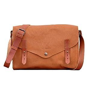 L'INDISPENSABLE Sabbia bolso de cuero estilo vintage PAUL MARIUS