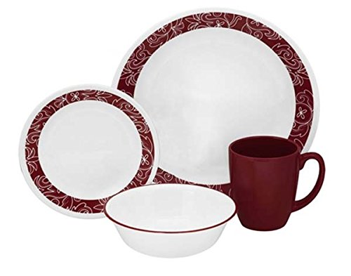 corelle-16-piece-vitrelle-glass-bandhani-chip-and-break-resistant-dinner-set-service-for-4-red