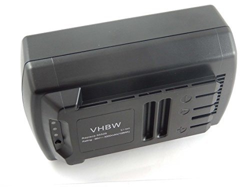 Preisvergleich Produktbild vhbw Li-Ion Akku 3000mAh (36V) für Elektro Werkzeug Güde Akku-Rasenmäher 370/36 Li-Ion (95540) wie 95526, 95543.