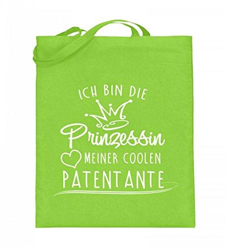 Borsa In Juta Di Alta Qualità (con Manici Lunghi) - Princess - My Cool Patentante Lime Green