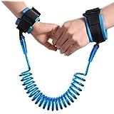 Divinext 1.5m 2.5m Adjustable Kids Safety Anti-lost Wrist Link Band Children Braclet Wristband Baby Toddler Harness Leash Strap, 11 x 9 x 3 cm, Random