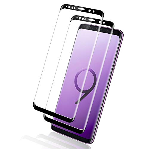 Yompz [2 Pezzi Vetro Temperato per Samsung Galaxy S9 Plus, Pellicola Protettiva per Samsung S9 Plus, [3D Copertura Completa] [Durezza 9H] [Anti Graffi] Protezione Schermo per Galaxy S9 Plus