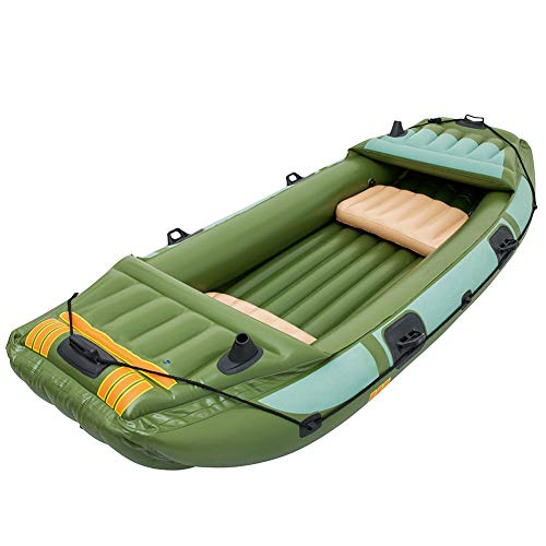 ZOUBIAG Kayak Hinchable De 3 Personas For Pesca (Color : Green, Size...