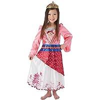 Mulan - Narrador - Disney Princess - Disfraces para niños - Grande - 128cm - Edad 7-8