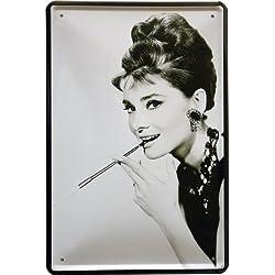 Diseño de Audrey Hepburn 20 x 30 cm publicidad Retro chapa película 998