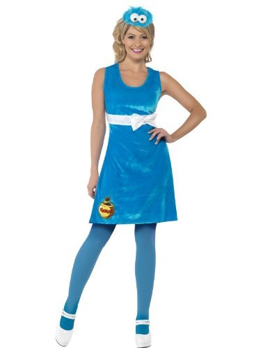 Smiffy's - Cookie Monster Dress - Sesame Street - Adult (Kostüme Monster Cookie)