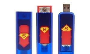 New Electronic Lighter USB Rechargeable Power Battery Cigarette Cigar Flameless Superman