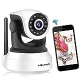 Caméra de Surveillance WiFi, Lemnoi SP017 Caméra IP WiFi 720P Intérieur, Audio Bidirectionnel pour Bébé Vision Nocturne Détection de Mouvement Voix bidirectionnelle avec l'app Android/iOS (720P)