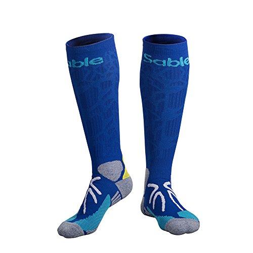 Sable Kompressionsstrümpfe, Laufsocken Basketball Socken, Socken mit Kompressionstechnologie für athletisches Training, Dichte Polsterung für Fußball, Basketball, Laufen und Hochleistungssportarten