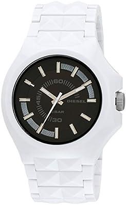 Diesel - Reloj de Pulsera de Plástico Blanco con Facetas DZ1645 para Hombres