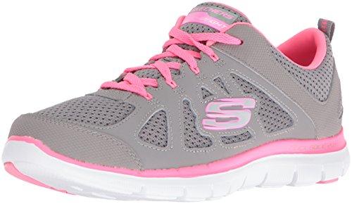 Skechers Flex Appeal 2.0 Simplistic Women's Trainers fitness Lite Weight black Gray/Hot Pink