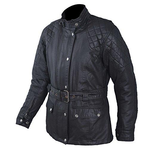 Giacca-Donna-Moto-Fodera-Termica-Removibile-Tessuto-Protezioni-Nero-2X