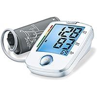 Beurer BM 44 - Tensiómetro de brazo, indicador OMS, fácil funcionamiento 1 botón, color blanco