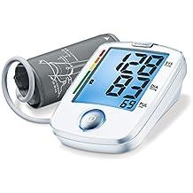 Beurer BM44 - Tensiómetro de brazo, indicador OMS, fácILfuncionamiento 1 botón, ...