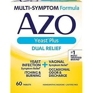 Multi-Symptom Formula Azo Yeast Plus (Dual Relief) 60 Tablets