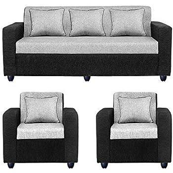 Bharat Lifestyle Cosmo Five Seater Sofa Set 3-1-1 (Grey)