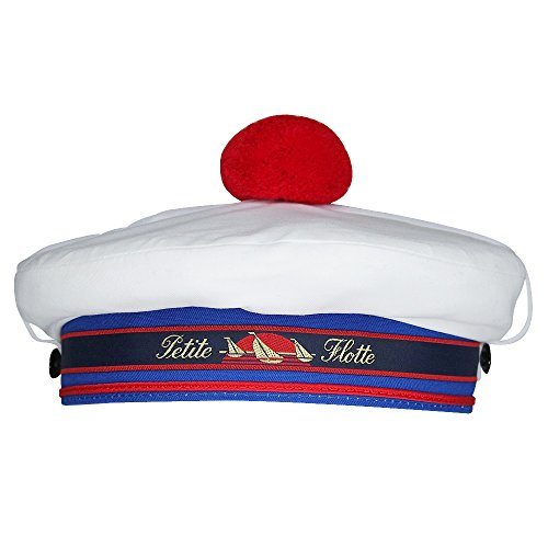 Chapeau-tendance - Beret Marin Blanc - 55 - Homme