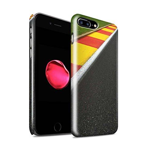 STUFF4 Glanz Snap-On Hülle / Case für Apple iPhone 8 Plus / Rennauto Muster / Rennstrecke Foto Kollektion Apex/Schikane