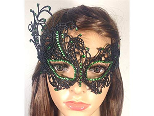 e Blumen Geheimnisvolle Phoenix Lace Cutout Maske venezianische Maskerade Maske für Weihnachten (schwarz) Hochzeitssträuße (Farbe : Black, Größe : 23X14.5cm) ()
