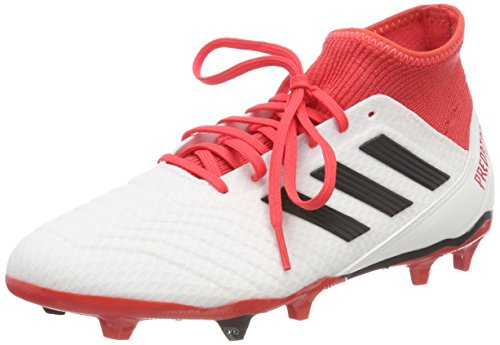 Adidas Predator 18.3 FG, Botas de fútbol para Hombre, Blanco (Ftwbla/Negbas / Correa 000), 43 1/3 EU