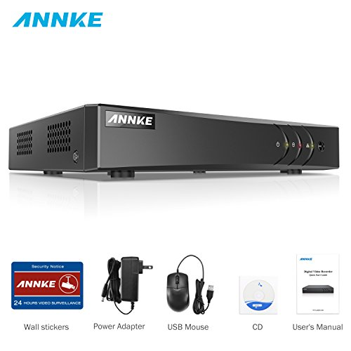 4-kamera Digital Video Recorder (ANNKE 1080P Lite DVR Recorder, 5 IN 1 Digital Video Recorder H.264+ für Videoüberwachung, Bewegungserkennung, Online-Fernzugriff (4CH))