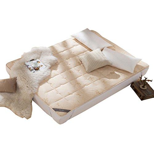Nclon Wolle Folding Matratzenauflage,Anti-Rutsch Matratzenschoner,Einzelbett Doppelbett Quilting Atmungsaktive Hautfreundlich Warm Halten...