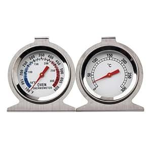 Générique 0-300 Degré ménages Cuisine classique en acier inoxydable Four Thermomètre Couleur Argent