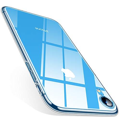 TORRAS Crystal Clear Kompatibel mit iPhone XR Hülle, Transparent [Anti-Gelb] Handyhülle Schutz Weiche Silikon TPU Bumper Case Scratchproof Durchsichtige Schutzhülle für 6,1 Zoll iPhone - Klar Schutzhülle Case