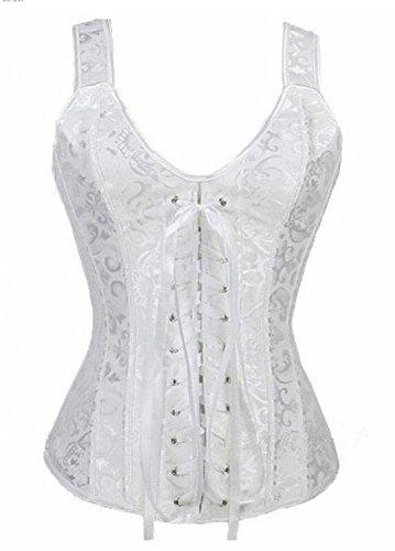 Aizen bustino corsetto taglie forti sexy burlesque donna modellante elegante intimo donna bianca xl