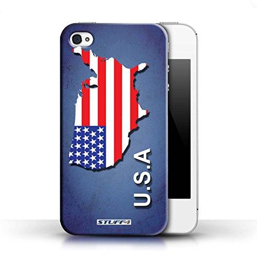 Kobalt® Imprimé Etui / Coque pour Apple iPhone 4/4S / Argentine conception / Série Drapeau Pays Amérique/Américain/USA