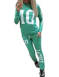 WEIMEITE Donna Lettera Pullover Sport Felpa Pantaloni 2 Pezzi Set Tuta 5268ed44488