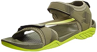 Puma Men's K9000 XC Ind. Burnt Olive and Lime Punch Athletic & Outdoor Sandals - 7 UK/India (40.5 EU)