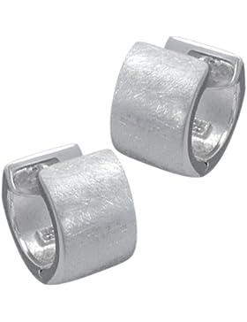 Vinani Damen-Klapp-Creolen gebürstet Sterling Silber 925 Ohrringe CBG