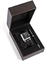 Cross  CR1011 - Reloj de cuarzo para hombre, con correa de cuero, color negro