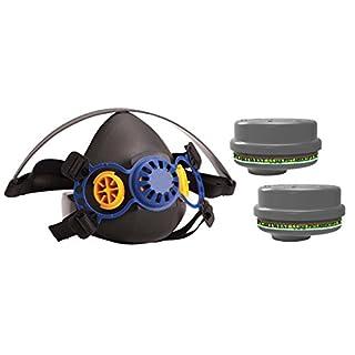 Caoutchouc thermoplastique PPE Demi Masque respiratoire et Lot DE 4x ABEK1P3industriels au gaz et Particules Anti-Poussière Combinaison Cartouches kit de Filtre