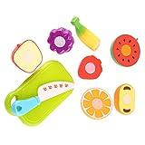 JullyeleFRgant Jouets environnementaux de Coupe de légumes de Fruits d'enfants Jouets éducatifs Cerveau développemental Cook Cook Cookbook sûrs