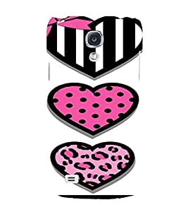 PrintVisa Cute Hearts Art 3D Hard Polycarbonate Designer Back Case Cover for Samsung Galaxy S4