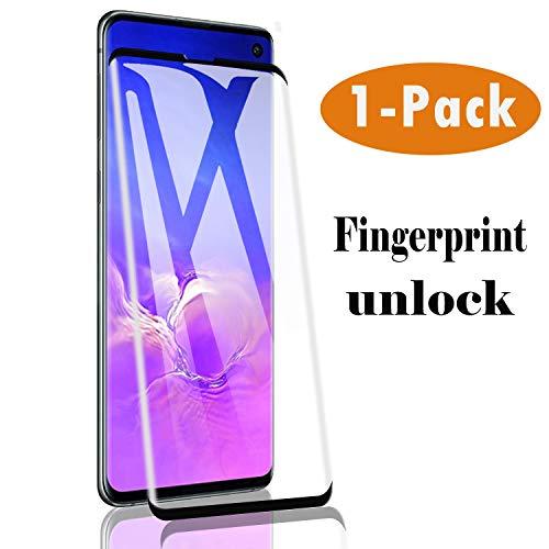 Hotbon Panzerglas Schutzfolie für Samsung Galaxy S10, Fingerabdruck entsperren,volle Bedeckung 9H Härte Schutzfolie HD Panzerglasfolie Displayschutzfolie Full Cover 1Stück