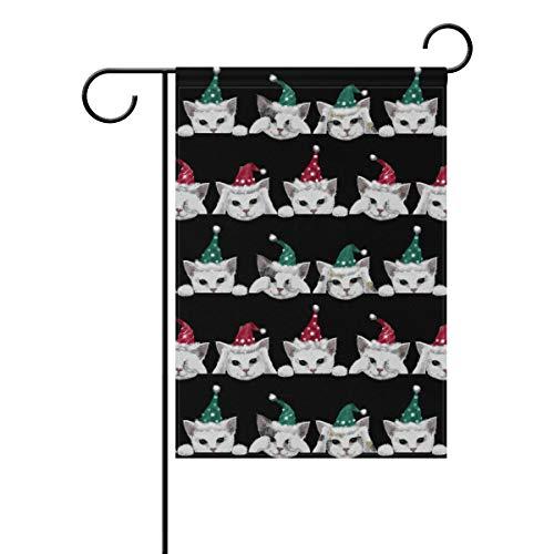 KGuanJi Garten-Flagge, gestreift, doppelseitig, 30,5 x 45,7 cm, Kirschrot 28