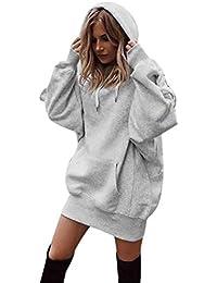 b14eb05b5204 Sport Hoodies MEIbax Damen Mode Einfarbig Kleidung Hoodies Pullover Mantel  Hoody Sweatshirt Lang Tunika…