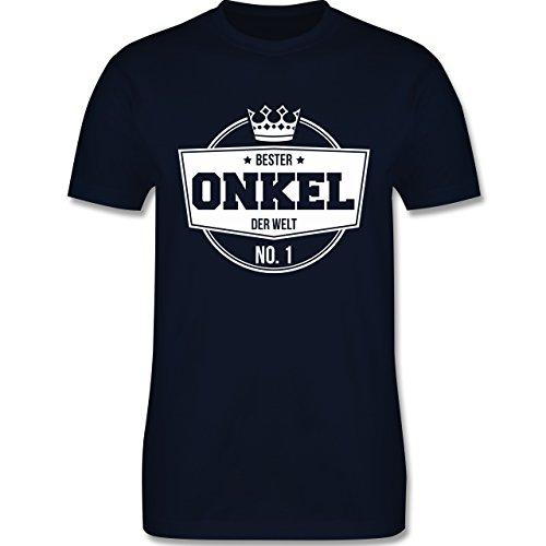Shirtracer Bruder & Onkel - Bester Onkel der Welt - Herren T-Shirt Rundhals Navy Blau