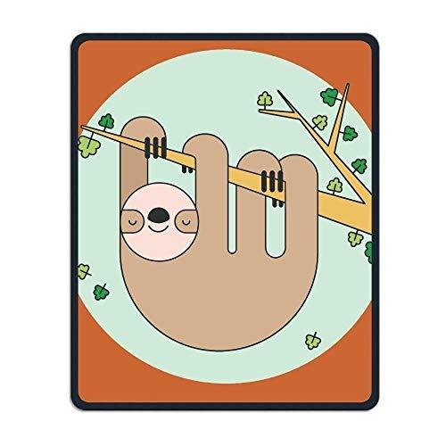 Mouse Pads, Precision gesäumt und langlebig Deep Orange Cute Sloth Custome Günstige Mauspad Rutschfeste Gummi Gaming Office Mousepad für Männer und Frauen